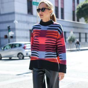 Mara Hoffman knit pullover multi sweater sz M